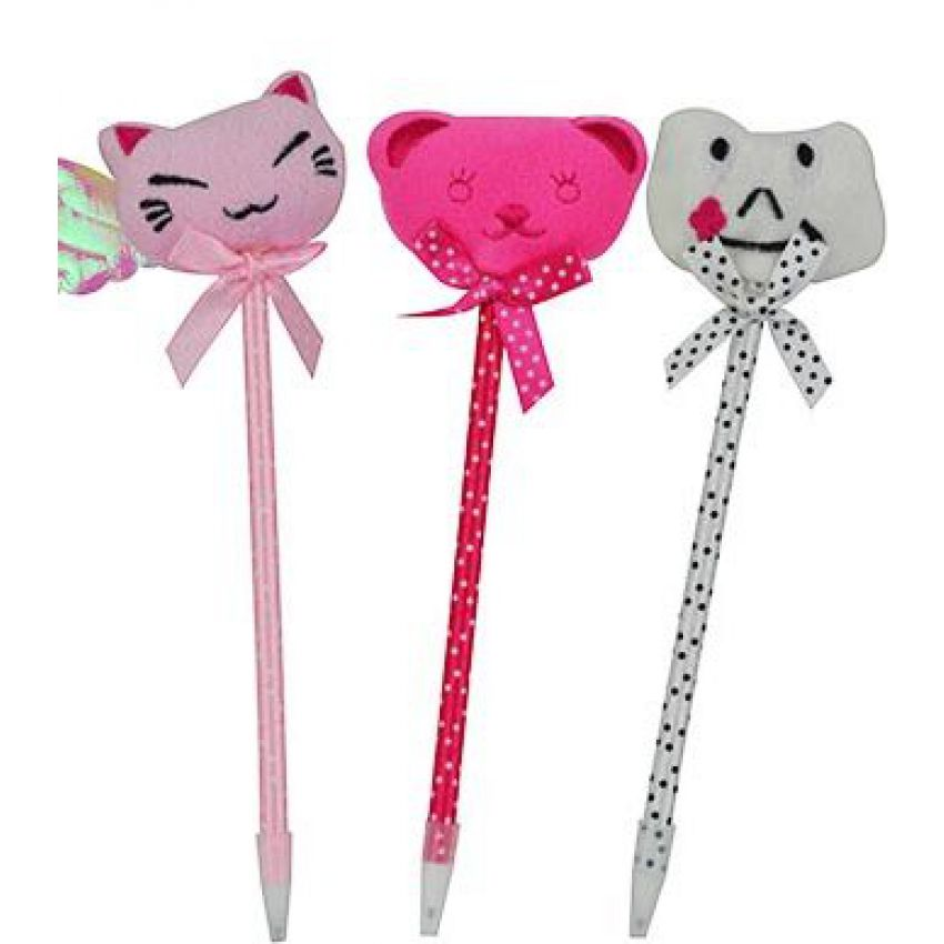 Cute Plush Animal Ball Point Pen large 1