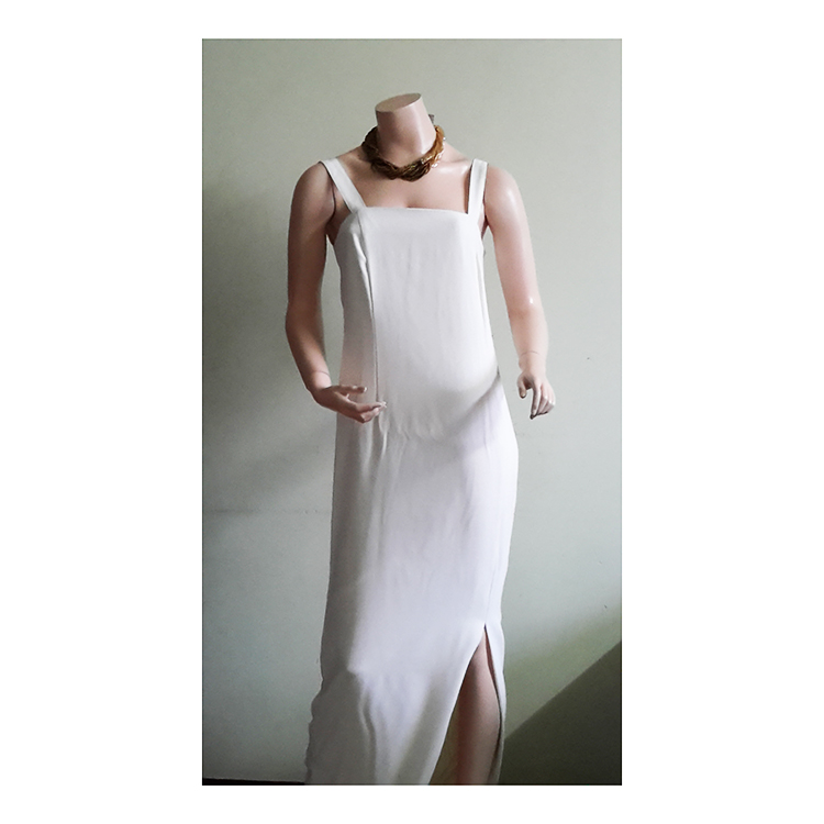 Simple Off White Long Frock large 1