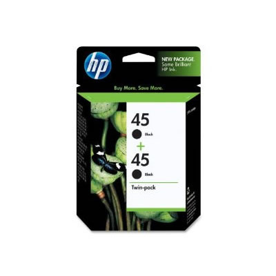 Hp 45 Twin Pack Black Ink Cartridge large 1