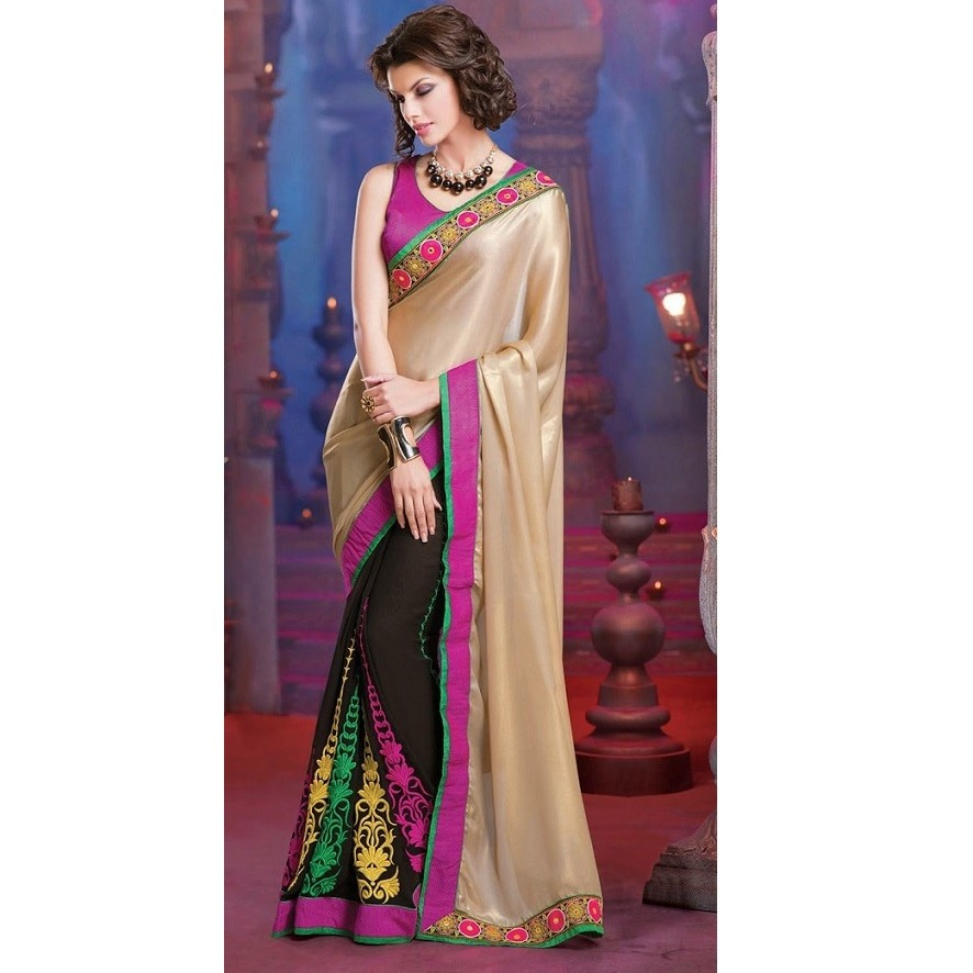 Designer Wear Half & Half Saree SR1383 large 2