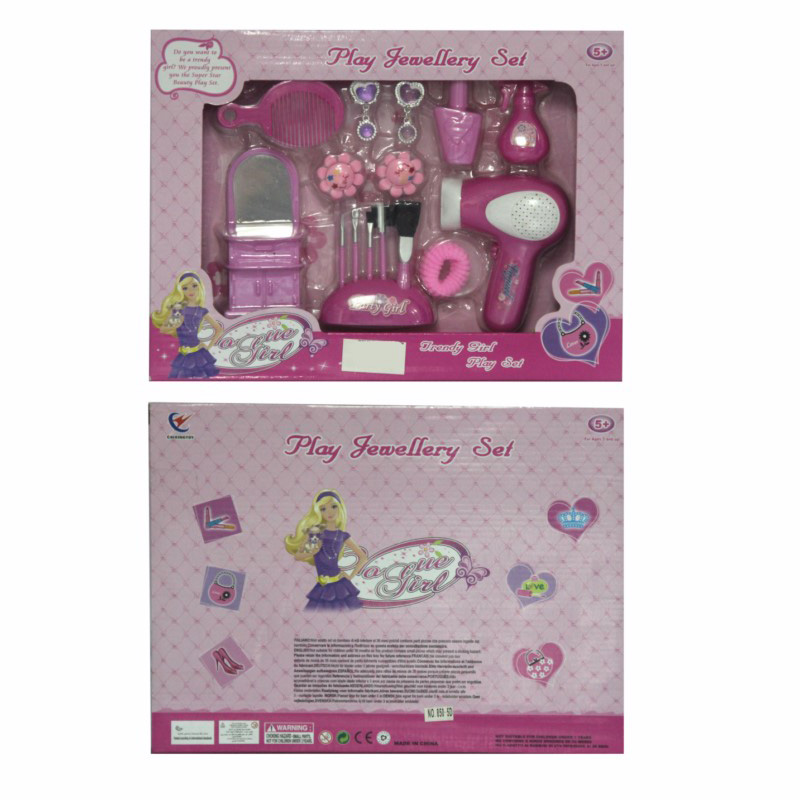 Barbie Girl Play Jewelry Set large 1