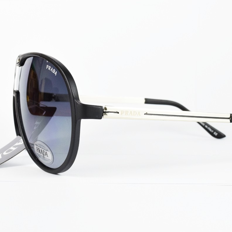 Black Top Quality Prada Full Face Sunglass  MS016 large 3
