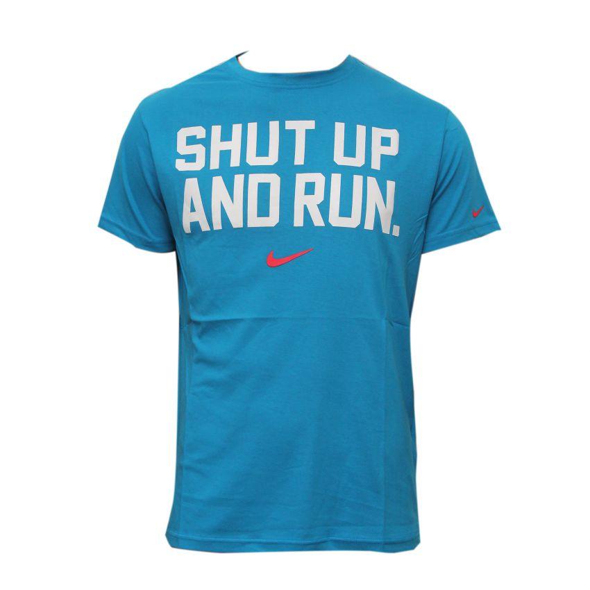 Blue Crew Neck T Shirt