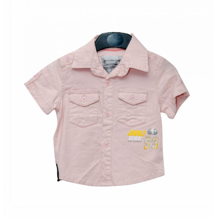 Double Sided Pocket Boys Shirt - Light Brown large 1