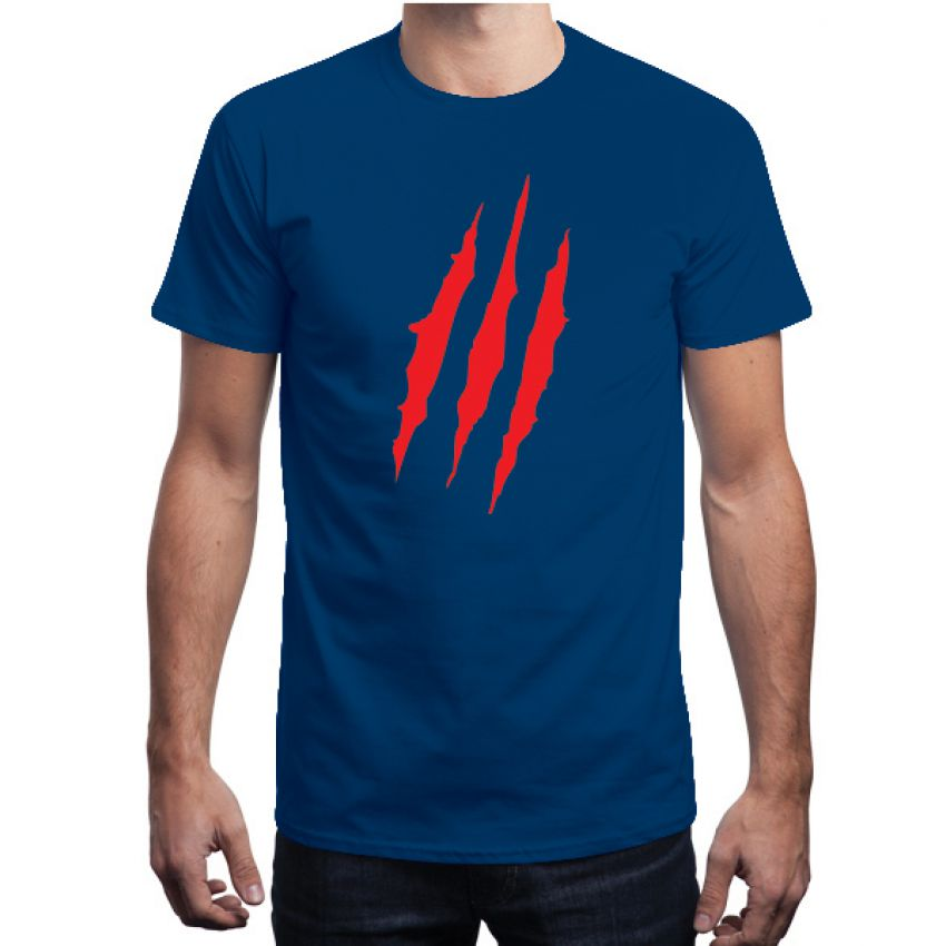 Claw Marks Blue T shirt for Men large 1