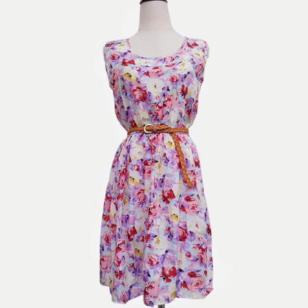Exclusive Spring Floral Sleeveless Dress large 1