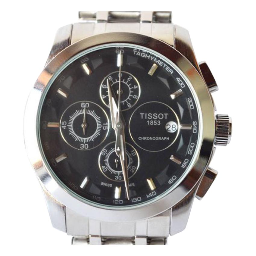 1853 Black Dial Chronograph Watch large 2