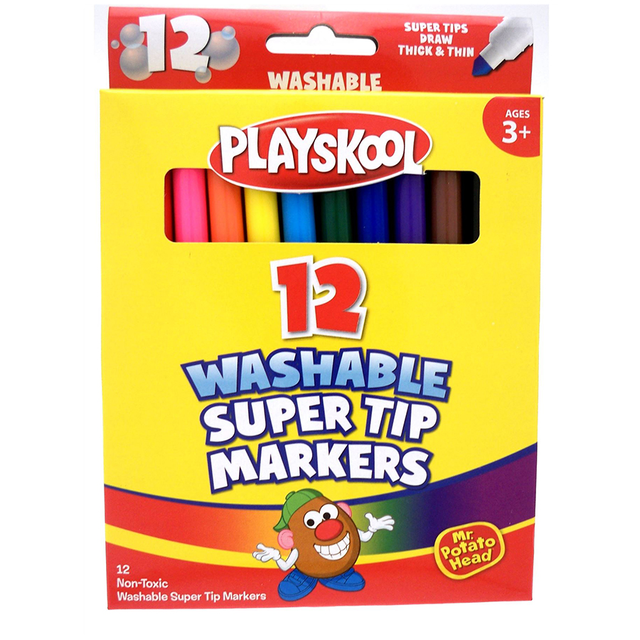 Super Tip Markers 12 Count large 1