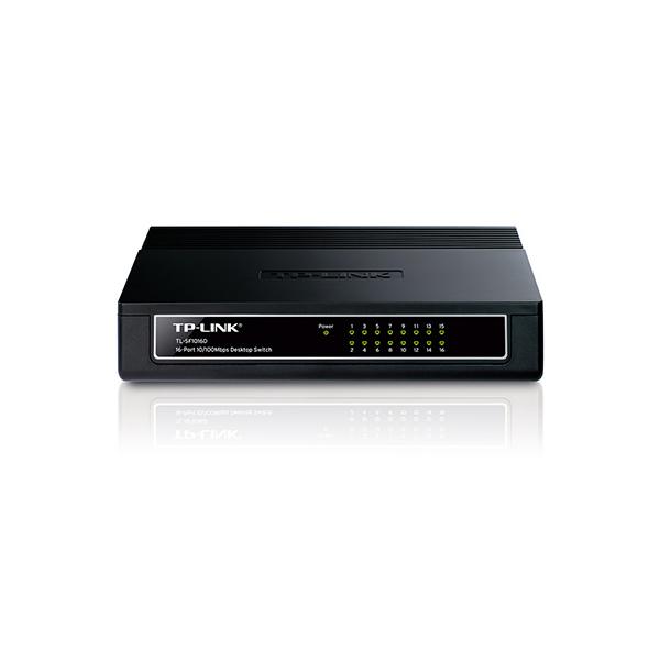 TP-Link TL-SF1016D 16-Port 10/100Mbps Desktop Switch 10000496