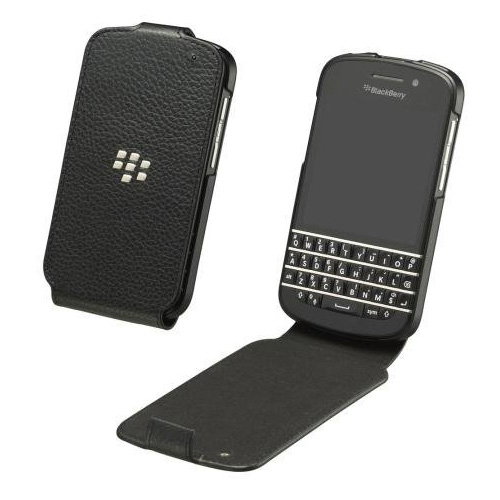 Blackberry Q10 Leather Flip Shell Covers NFC Friendly large 1