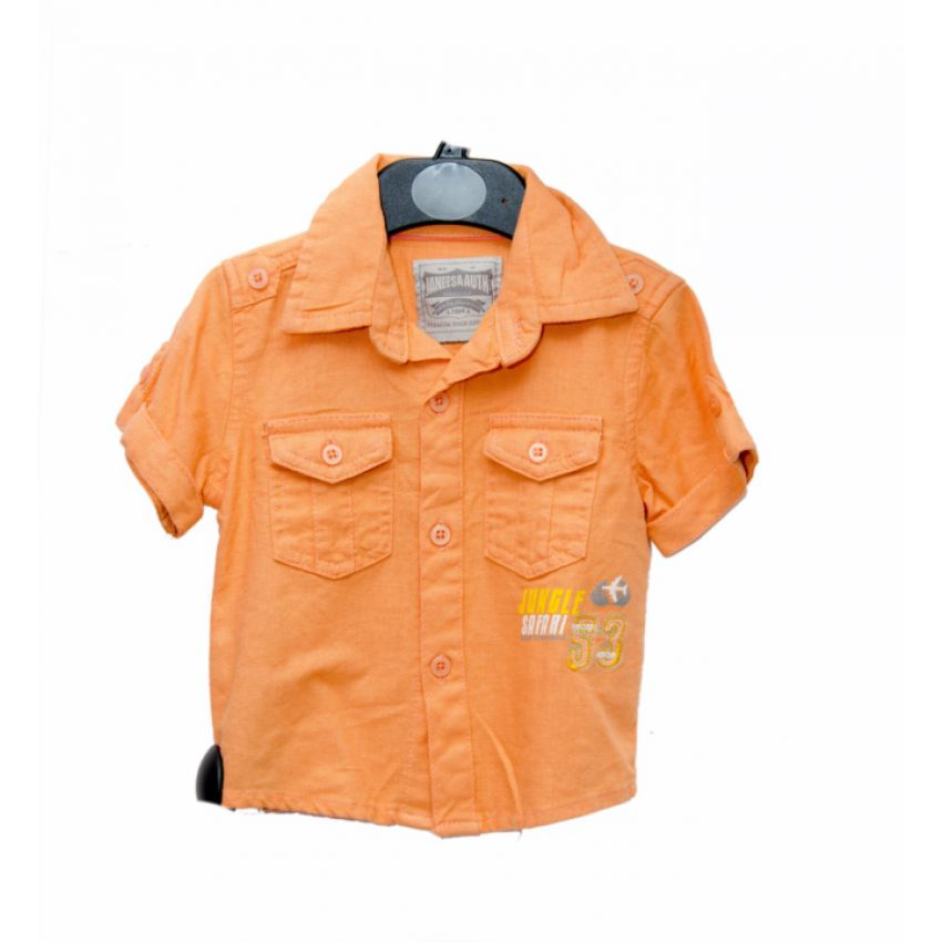 Jungle Safari Boys Shirt Orange large 1