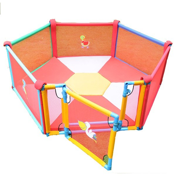 6 Panel Playpen with Granny Gate large 1