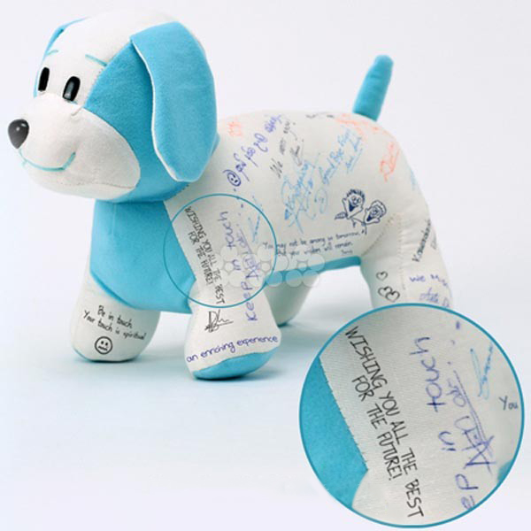 Cuddly Pet dog to be remembered BLUE soft toy large 1