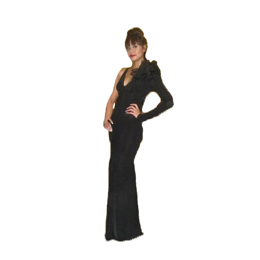 Long Jersey Gown large 1