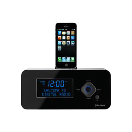 John Lewis Nova DAB FM Bluetooth Mini Clock Radio Dock large 1