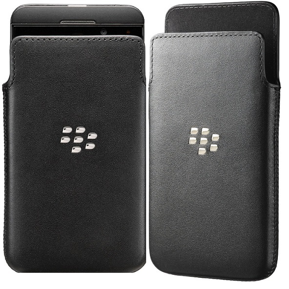 Blackberry Z10 Leather Pocket Cover NFC Friendly large 1