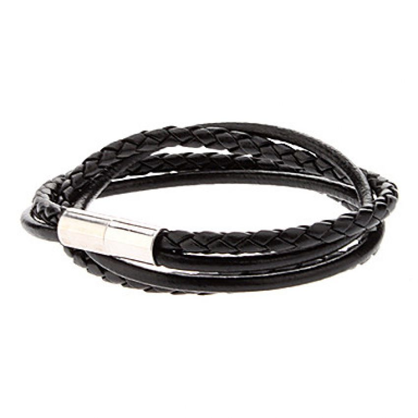 Double skin Leather Rope Loopy Bracelet large 1