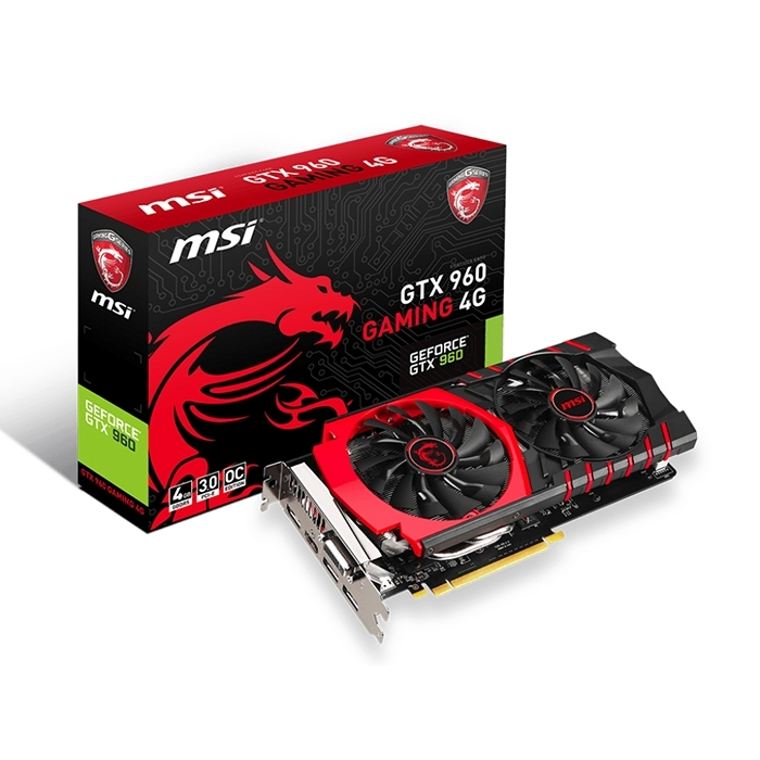MSI GTX 960 GAMING 4G 4GB Graphic Card large 1