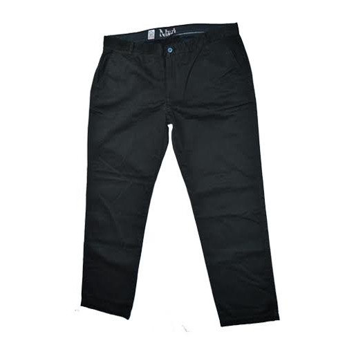 Navi Mens Black Straight Fit Pant
