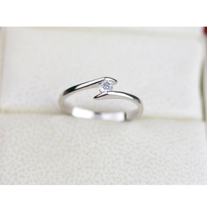 Silver Plated Heart Ring R 031 large 1