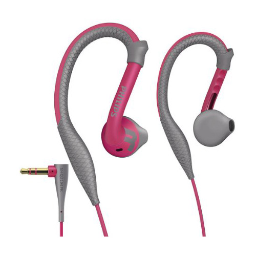 PHILIPS ActionFit Sports Earhook Headphone Pink 1002AU4 large 1