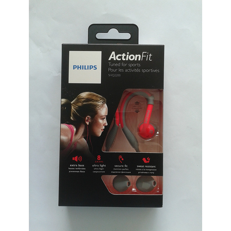 PHILIPS ActionFit Sports Earhook Headphone Pink 1002AU4 large 2