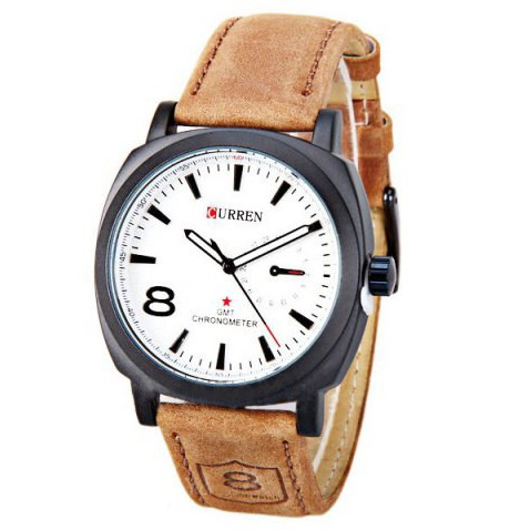 Curren White Mens Watch large 1