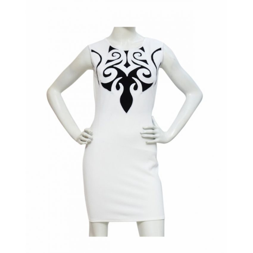 MX Caligraphy Design Dress - White large 1