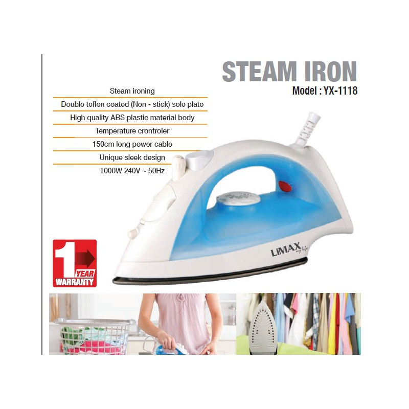 Limax Steam Iron YX1118 large 2