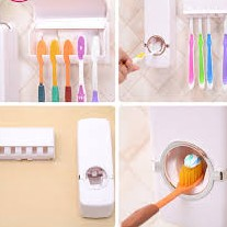Automatic toothpaste dispenser with toothbrush holder large 2