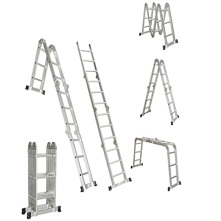 Adjustable Ladder 3 7M With Plate large 1