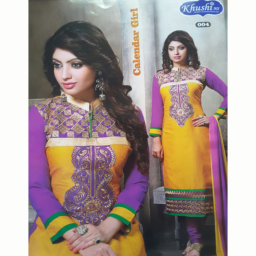 Calendar Girl  Semi Stitched Shalwar Material 004 large 1