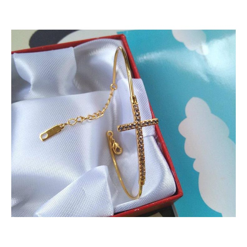 Cute Beautiful Cross Bracelet AJBR02 large 1