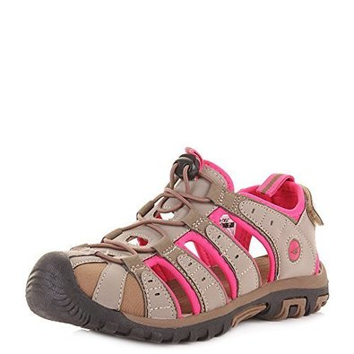 Hi Tec Shore Women's Shoe Dune Taupe and Pink large 1