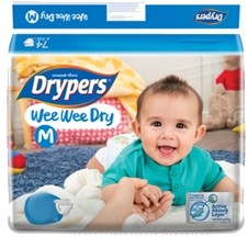 Drypers Baby Diapers Wee Wee Dry Medium 28 Pcs large 1