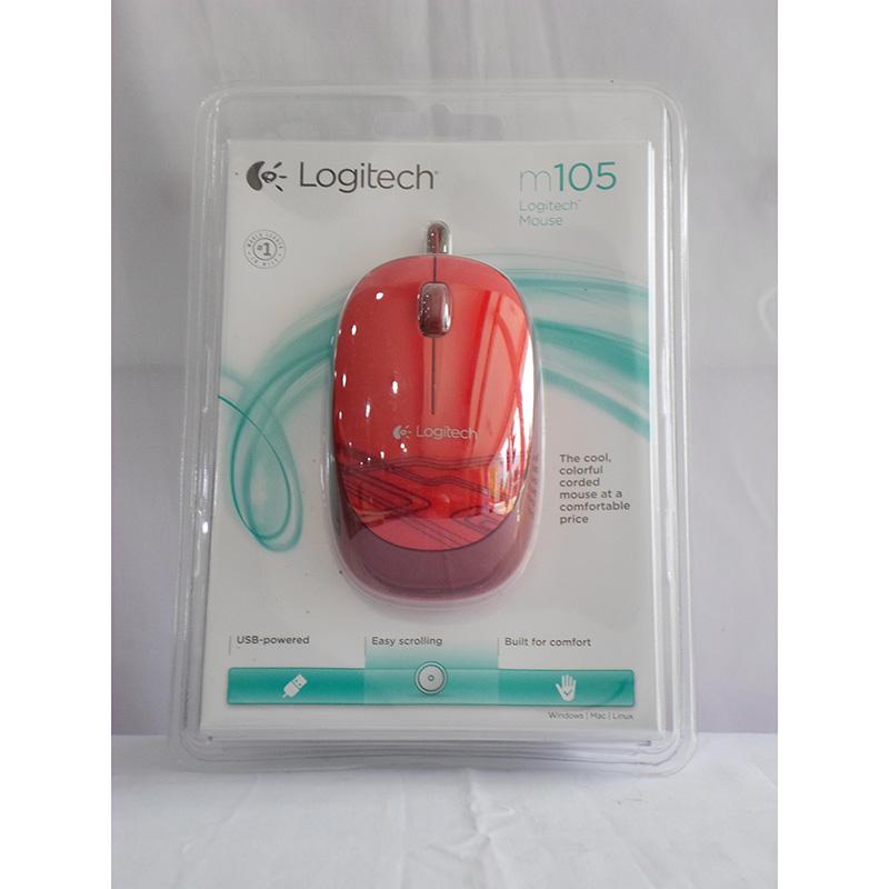 LOGITECH Wireless Mouse M105 Red 1038AU4