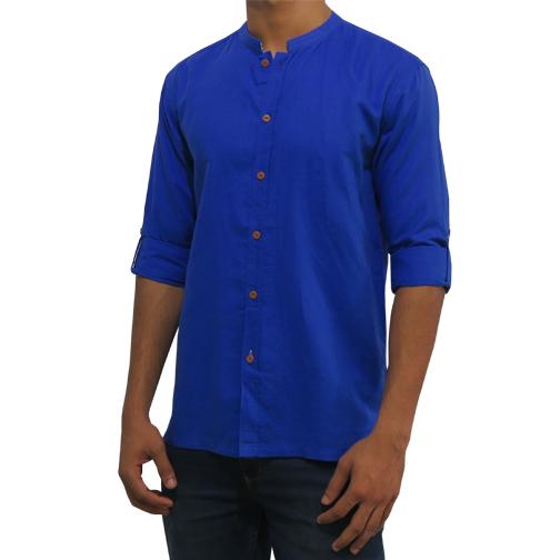 Mens Royal Blue Shirt C-PCF0076LS135