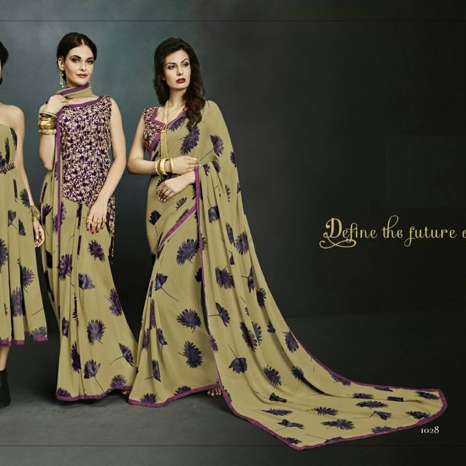 Casual Wear Saree SR1554 large 1