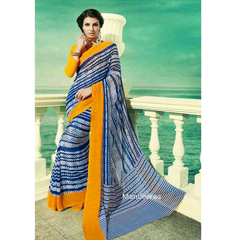 BRANDED CASUAL CATALOGUE SAREE 11009 large 1