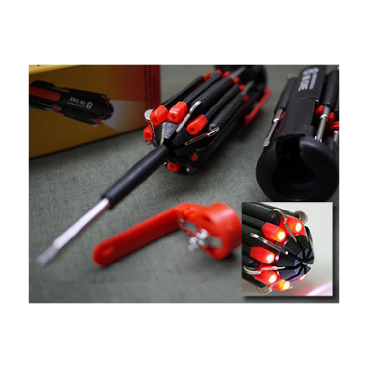 8 In 1 Multi Screwdriver With Led Portable Torch large 1