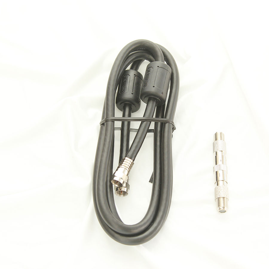 TV Video Lead 150Cm Cable With F Plugs large 1