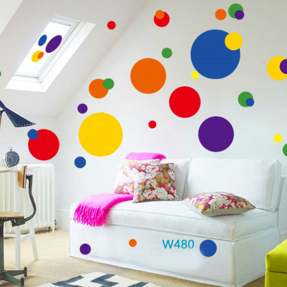 Wall sticker-Circles Color large 1