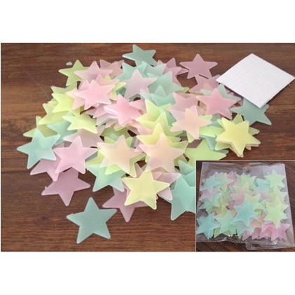 50pcs Pack Glow In The Dark Stickers large 1