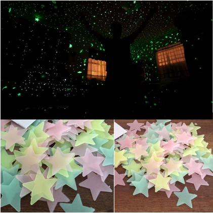 50pcs Pack Glow In The Dark Stickers large 3
