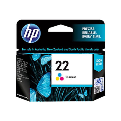 Hp 22 Tri Color Ink Cartridge large 1