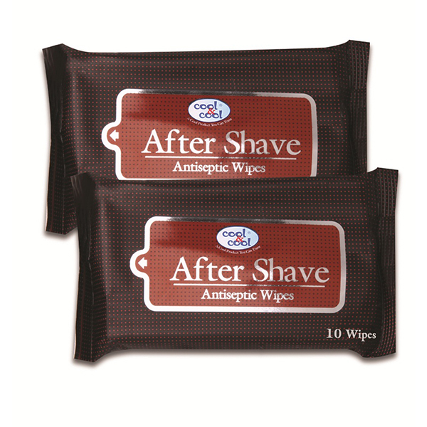 After Shave Mens Wipes 10pcs large 1