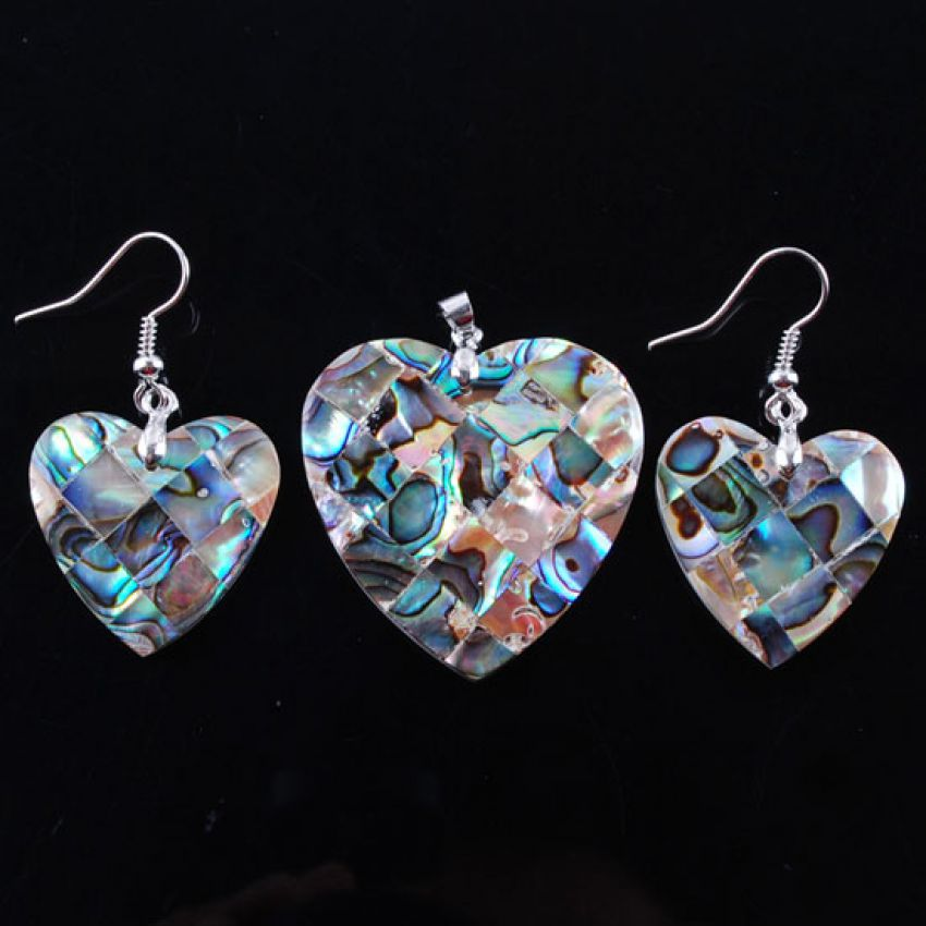 Handmade Heart Jewelry Set large 1