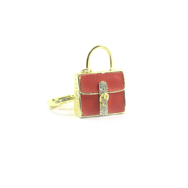 Bling Bag Red Key Chain KCNBR large 1