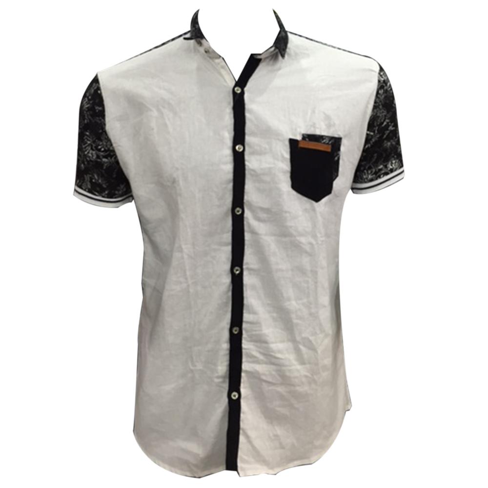 Cotton Short Sleeve Printed Shirt