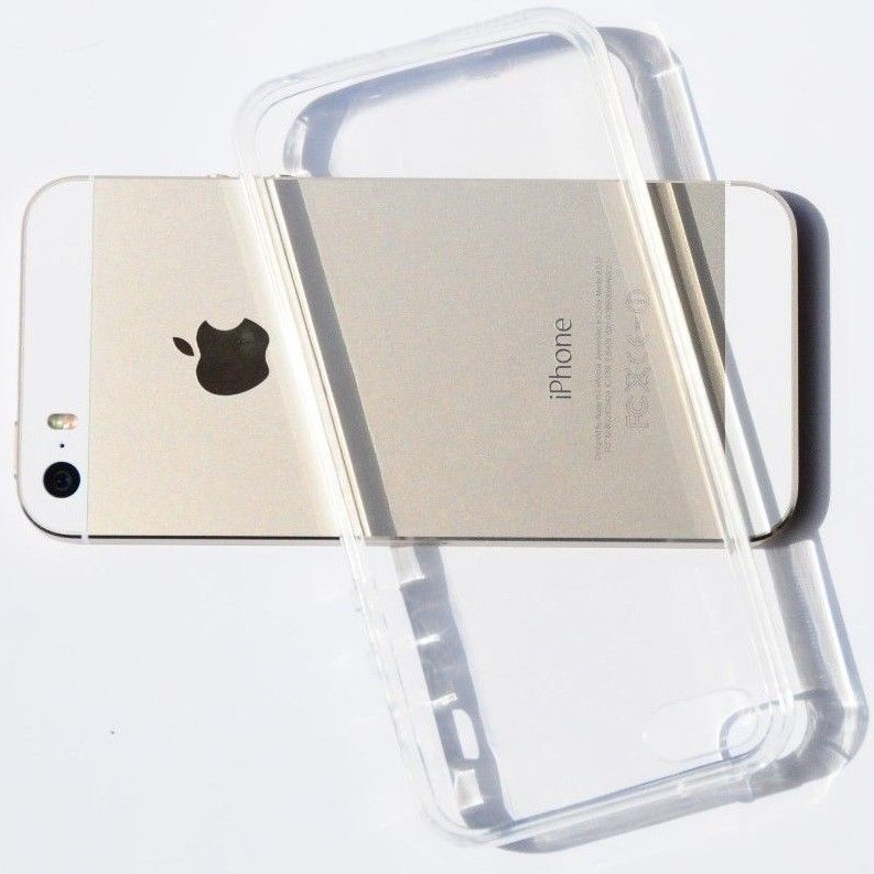 Clear Thin Transparent Crystal Soft TPU Silicone Gel Cover PC03 large 1